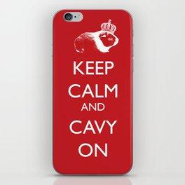 Keep Calm Cavy On iPhone Skin
