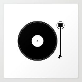 gramofon Art Print