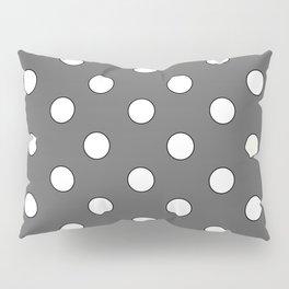 Grey Pastel Polka Dots Pillow Sham