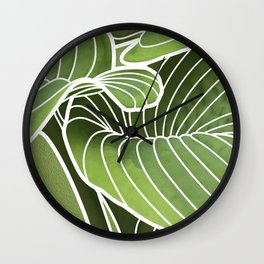 Hosta Detail Wall Clock