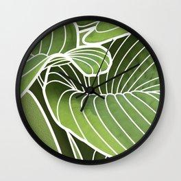 Hosta Detail Wall Clock