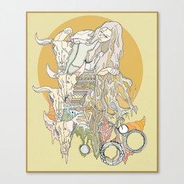 hair, wood, bones Canvas Print
