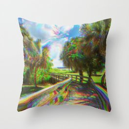 Trippy Walkway Throw Pillow