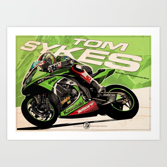Tom Sykes - SBK 2013 Art Print