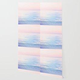 Dreamy Pastel Seascape 2. Blue & Nude #pastelvibes #Society6 Wallpaper