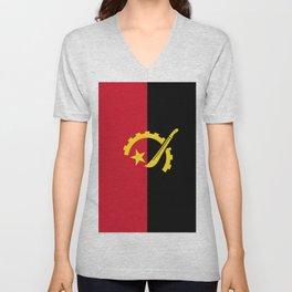 Flag Of Angola Unisex V-Neck