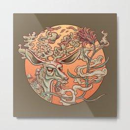 Deer Smoke & Indian Paintbrush Metal Print