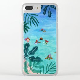 Meet me somewhere in the middle Clear iPhone Case