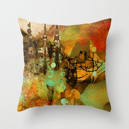 The last mohicans Throw Pillow