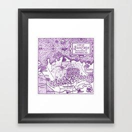 Map of Bohemia (purple) Framed Art Print