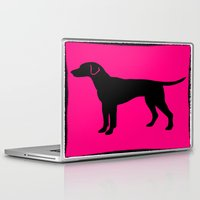 lab Laptop & iPad Skins featuring lab silhouette by Vintage Fox