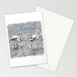 Be A Flamingo Watercolor Stationery Cards