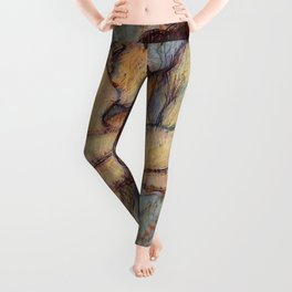 IN BED, THE KISS - HENRI DE TOULOUSE LAUTREC Leggings