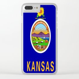 flag Kansas-america,usa,middlewest,Sunflower State, Kansan,Topeka,Wichita,Overland Park,Wheat State Clear iPhone Case