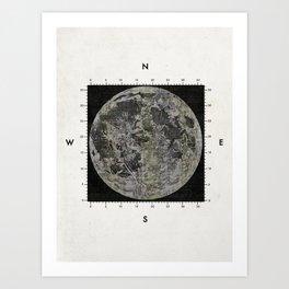 Moon Scale Art Print