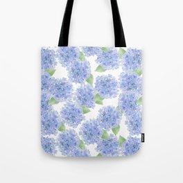 Elegant lavender lilac watercolor hydrangea floral Tote Bag