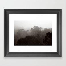 Fog Gradient Framed Art Print