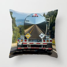 Reflections of the road Throw Pillow