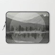 Mountain Mirror BW Laptop Sleeve