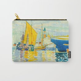 Henri-Edmond Cross Neo-Impressionism Pointillism Venice-The Giudecca Watercolor Painting Carry-All Pouch