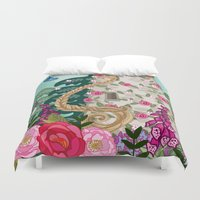rapunzel Duvet Covers featuring Rapunzel by Angie Spurgeon