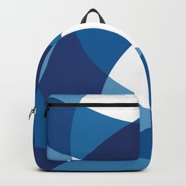 BLUE WAVY LINES Abstract Art Backpack