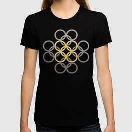 Intertwinning Gold Circles T-shirt