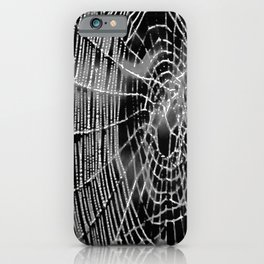 Black and White Spiders Web iPhone Case