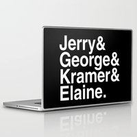 seinfeld Laptop & iPad Skins featuring Seinfeld Jetset by Bill Pyle