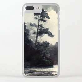 Adirondack Lake by Winslow Ho mer (1889) Clear iPhone Case