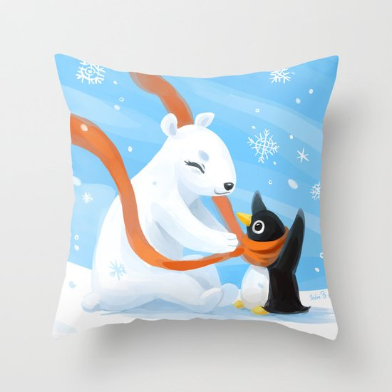Uncle Bear Throw Pillow