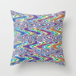 Altered Wiggle Throw Pillow