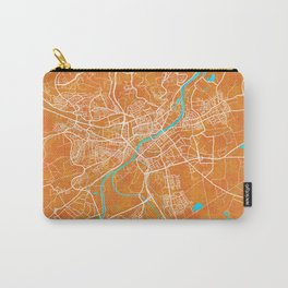 Ulm, Germany, Gold, Blue, City, Map Carry-All Pouch