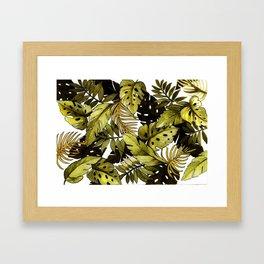 Cozy jungle living leaf Framed Art Print
