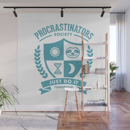 Procrastinators Society Wall Mural