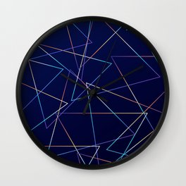 Holographic Lines Wall Clock