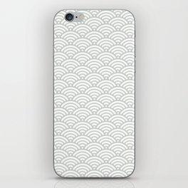Gray Grey Mermaid Scales Sea Salt iPhone Skin