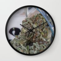 medical Wall Clocks featuring Silver Afghan Medical Marijuana by BudProducts.us