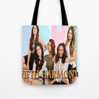 fifth harmony Tote Bags featuring fifth harmony best design home decoration ideas by customgift
