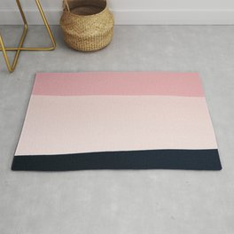 Pink & Naval & Rose Abstract Background Rug
