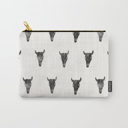 Stamped Skull Carry-All Pouch