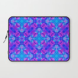 Hand drawn seamless pattern with folk national motives. Bright colored abstract wallpaper. Seamless Laptop Sleeve