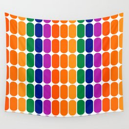 Rainbow Capsule Wall Tapestry