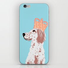 English Setter Dog Art  iPhone & iPod Skin