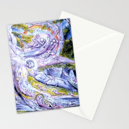 """William Blake """"Milton's Mysterious Dream"""" Stationery Cards"""