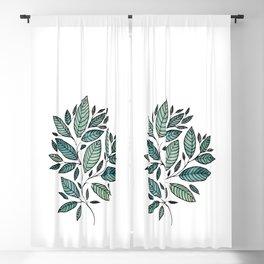 Watercolor Leaves Leaf Art Illustration Floral Botanical P12 104 Blackout Curtain