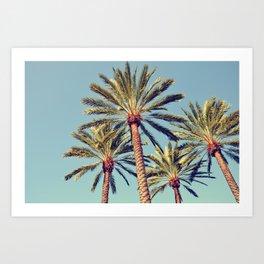 LA Palm Trees Art Print