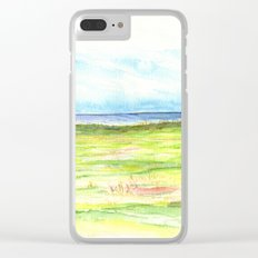 Sea meadow Clear iPhone Case