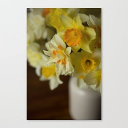 Rustic Spring Flowers Canvas Print