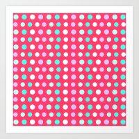 polka dots Art Prints featuring Polka Dots by Ornaart